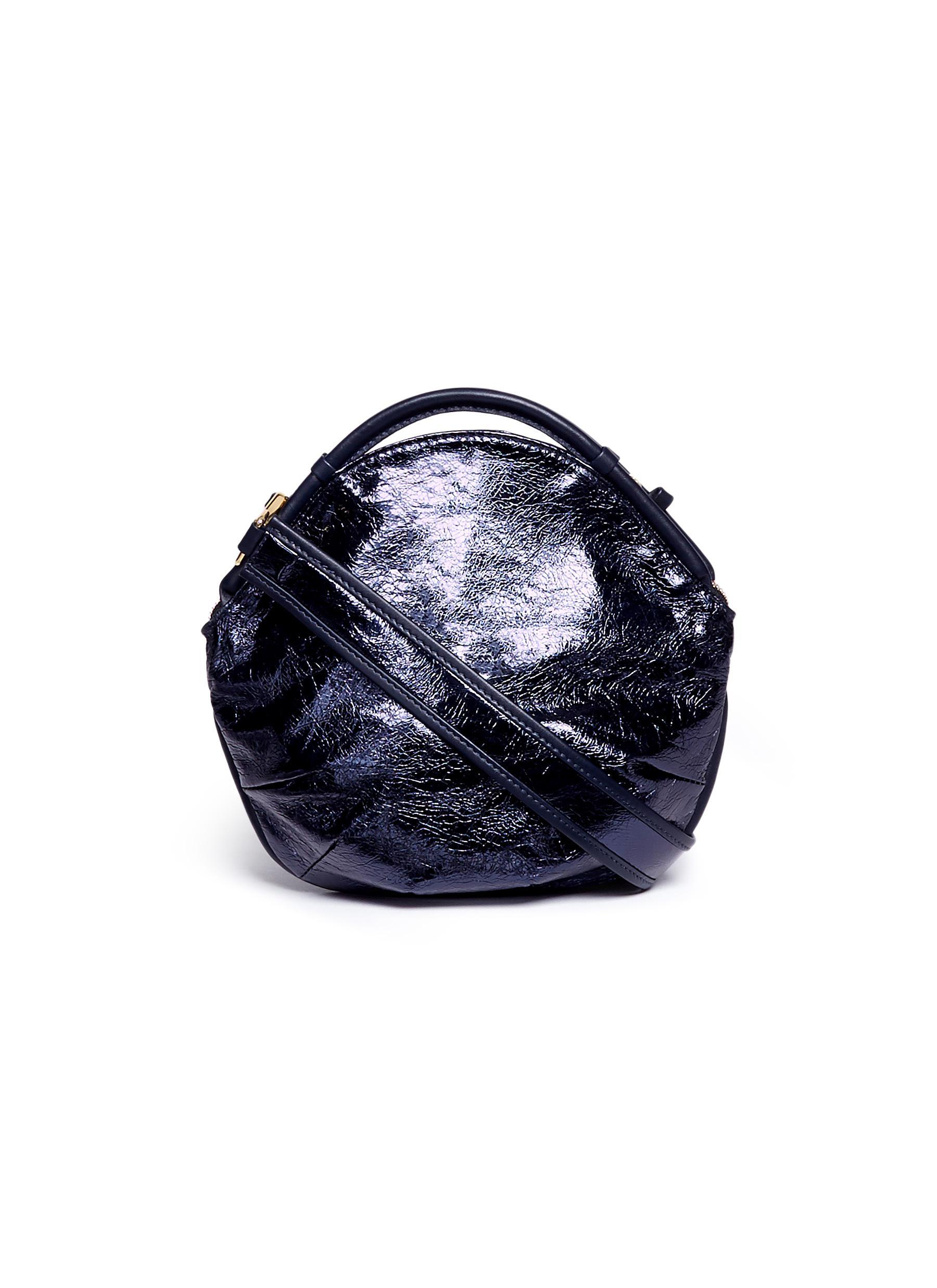 Petal Miniature colourblock metallic leather bag by A-Esque