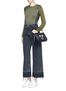 A-Esque 'Box Clutch Midi 02 Happy' leather bag