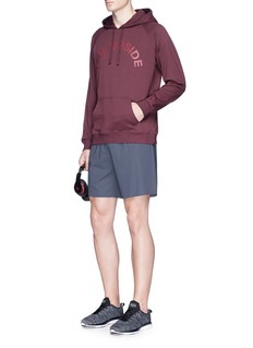 The UpsideLogo print hoodie