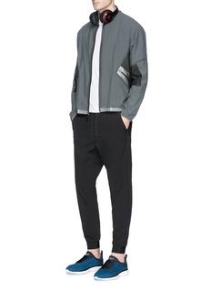Dyne'Carlson' metallic patch blouson jacket