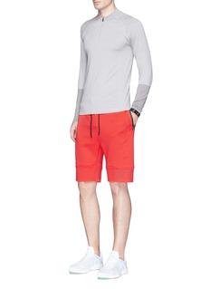 Dyne'Renzo Core' reflective trim logo print shorts