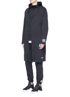 Adidas By White MountaineeringReflective logo print long coat