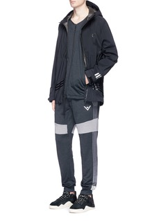 Adidas By White Mountaineering 'Challenger' colourblock reflective print track jacket