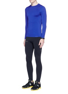 FALKE Reflective logo print seamless performance leggings