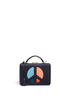Mark Cross 'Grace Small Box' peace sign cutout leather trunk