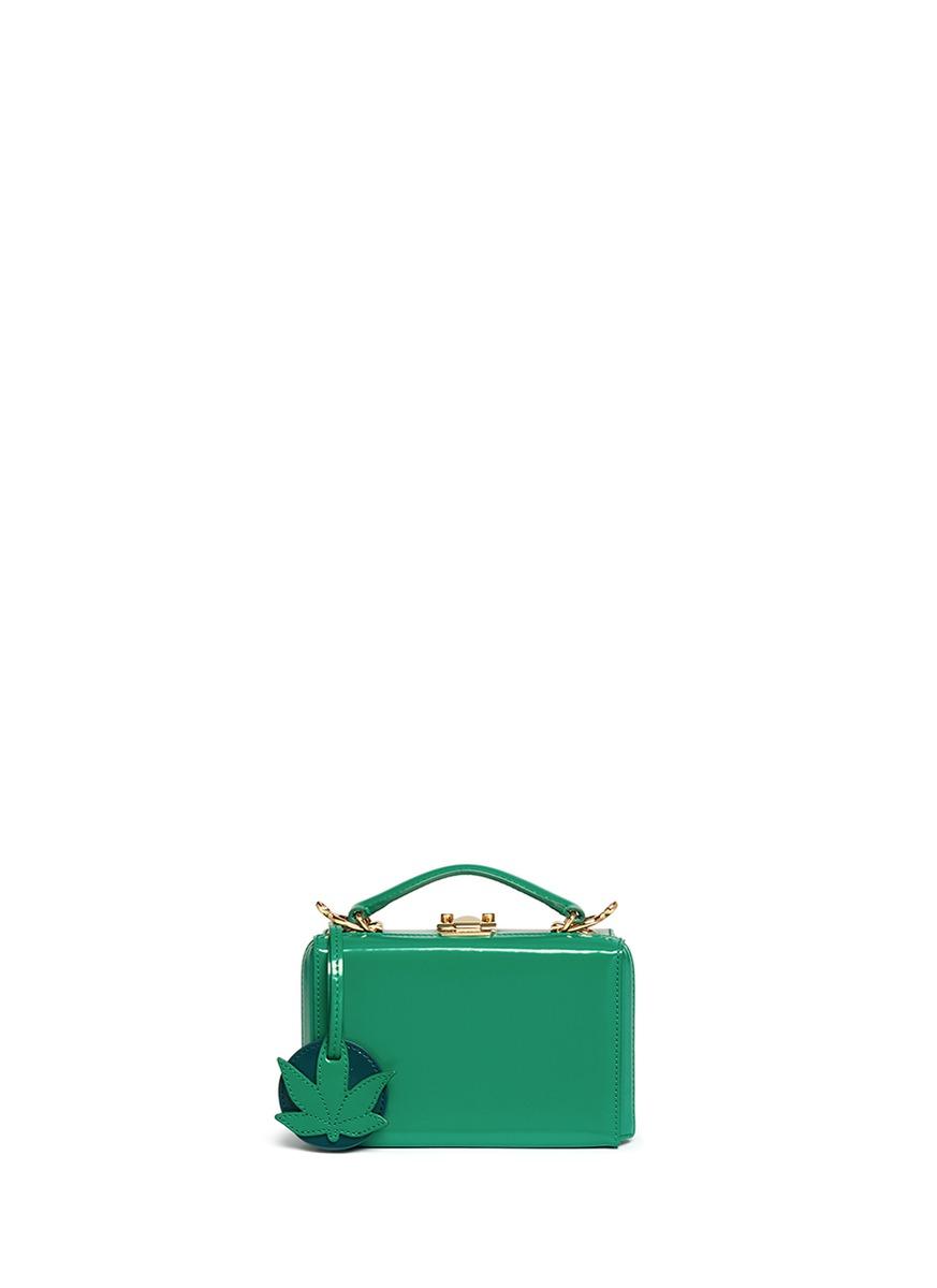 Grace Mini Box leaf clochette leather trunk by Mark Cross