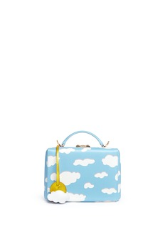 Mark Cross 'Grace Small Box' cloud print leather trunk