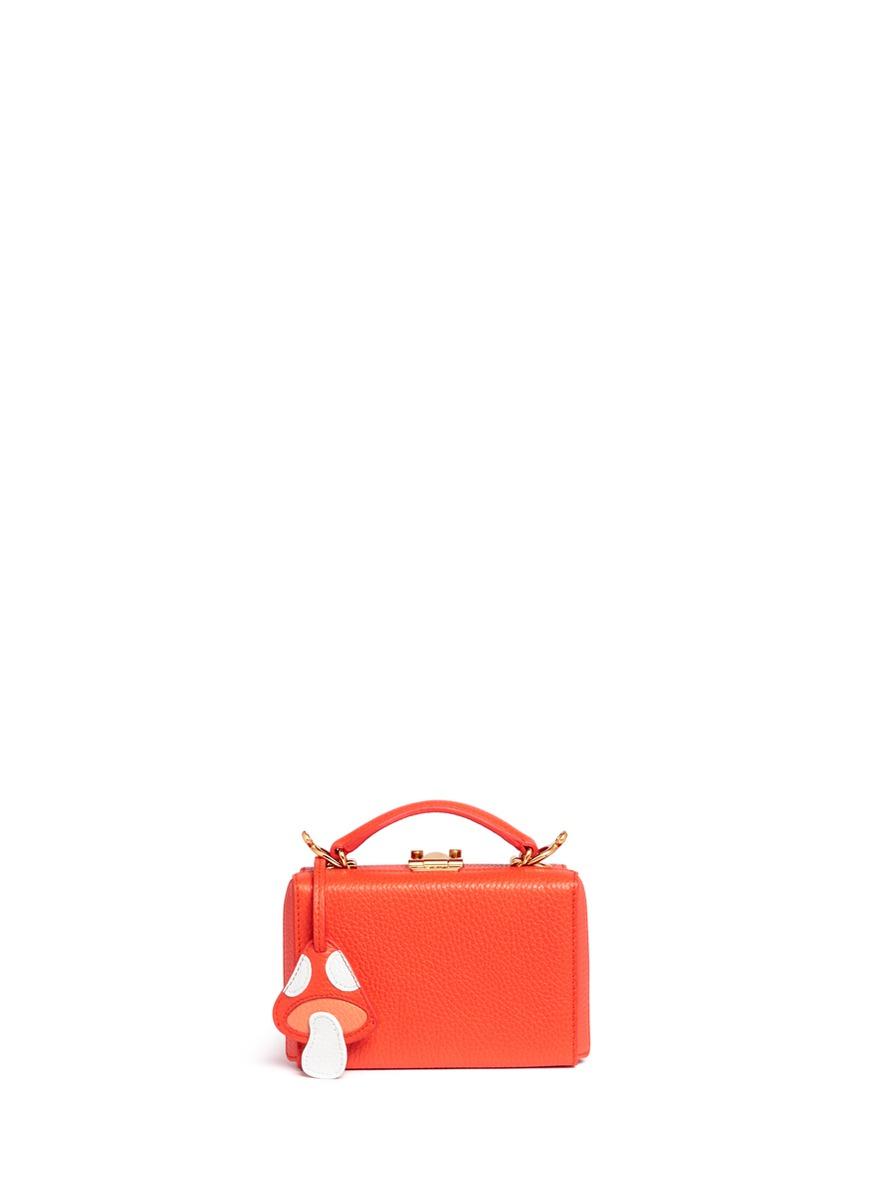 Grace Mini Box toadstool clochette leather trunk by Mark Cross