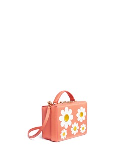 Mark Cross 'Grace Small Box' daisy appliqué leather trunk