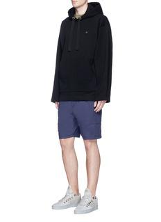Acne Studios'Florida' face patch oversized hoodie