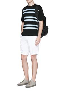 Acne Studios'Keris' stripe short sleeve sweater