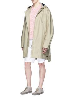 Acne Studios'Melt' cotton A-line hooded parka