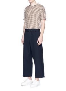 Acne Studios'Agden' wide leg cotton twill pants