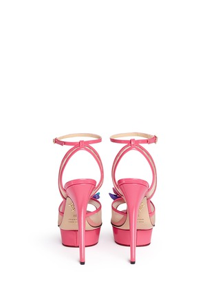 Back View - Click To Enlarge - Charlotte Olympia - x Barbie® 'Pomeline' shoe pompom leather pumps
