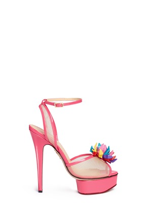 Main View - Click To Enlarge - Charlotte Olympia - x Barbie® 'Pomeline' shoe pompom leather pumps
