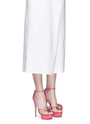 Figure View - Click To Enlarge - Charlotte Olympia - x Barbie® 'Pomeline' shoe pompom leather pumps