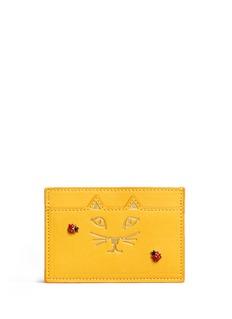 Charlotte Olympia'Feline' ladybug embellished leather card holder