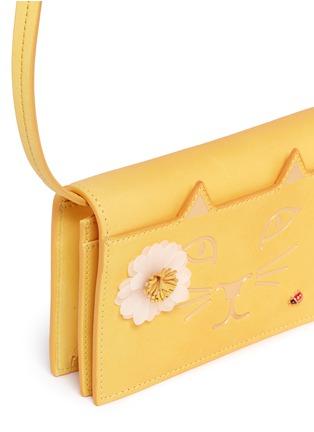 Charlotte Olympia-'Feline Purse' daisy and ladybug leather crossbody bag