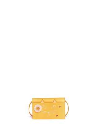 Main View - Click To Enlarge - Charlotte Olympia - 'Feline Purse' daisy and ladybug leather crossbody bag