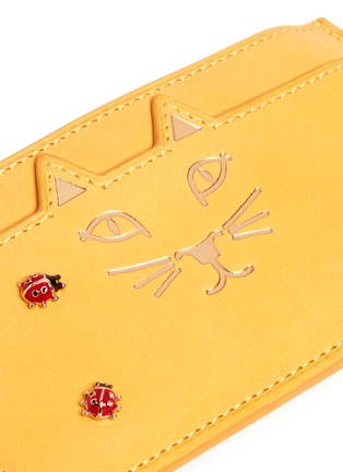 Detail View - Click To Enlarge - Charlotte Olympia - 'Feline' ladybug embellished leather coin pouch