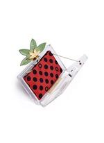 'Lucky Pandora' ladybug embellished Perspex clutch