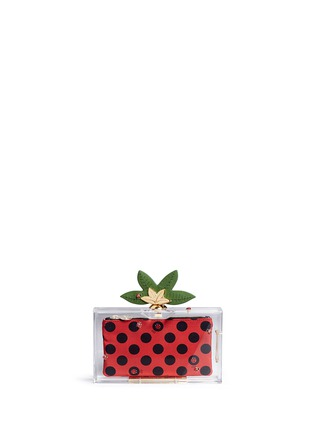Main View - Click To Enlarge - Charlotte Olympia - 'Lucky Pandora' ladybug embellished Perspex clutch