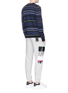 McQ Alexander McQueen Graphic print cotton blend sweatpants