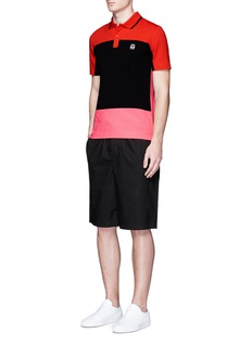 McQ Alexander McQueen Colourblock cotton jersey polo shirt