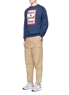 Have A Good Time Frame logo print fleece lined sweatshirt