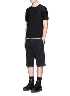 MASSLink' basket jacquard panel T-shirt