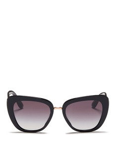 Dolce & GabbanaLogo plaque acetate cat eye sunglasses