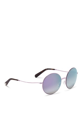 Figure View - Click To Enlarge - Michael Kors - 'Kendall II' metal round mirror sunglasses