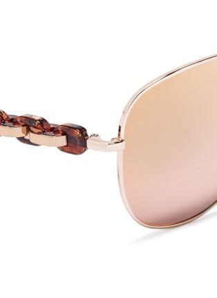 Michael Kors-'Pandora' tortoiseshell acetate temple metal aviator sunglasses