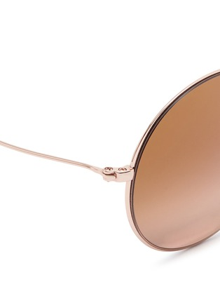 Detail View - Click To Enlarge - Michael Kors - 'Kendall II' metal round mirror sunglasses