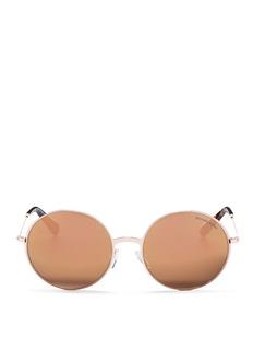 Michael Kors'Kendall II' metal round mirror sunglasses