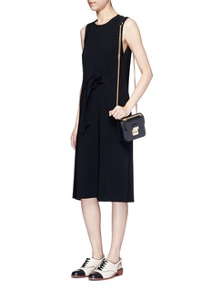 Theory 'Quinlynn' tie waist crepe dress