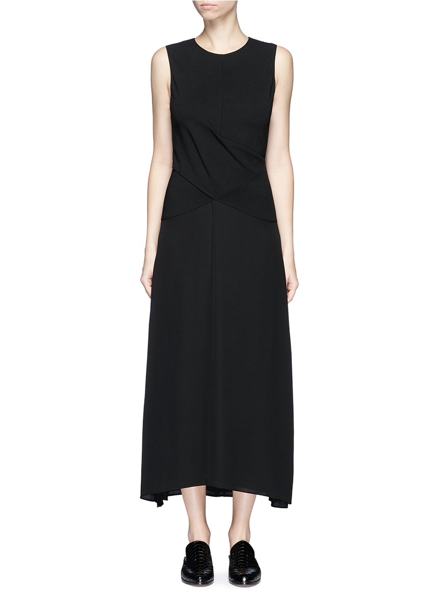 Parthenia Dr cross front ponte jersey dress by Theory