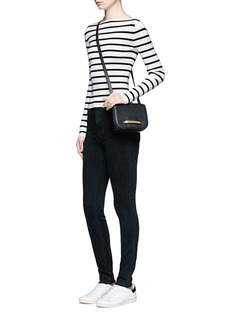 Theory'Blasina ST' stripe V-back sweater