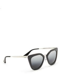 PradaMetal bridge cat eye acetate sunglasses