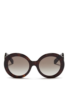 Prada'Minimal Baroque' swirl temple tortoiseshell acetate sunglasses