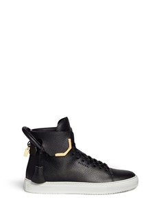 Buscemi '125MM Corner Metal' mid top leather sneakers