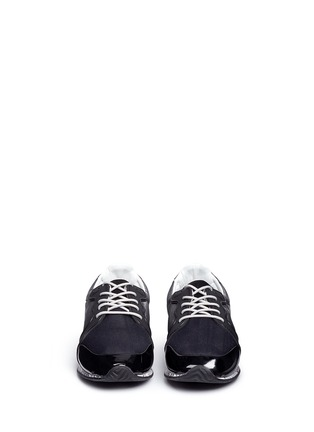 Front View - Click To Enlarge - Golden Goose - Clover' scribble print tech fabric sneakers