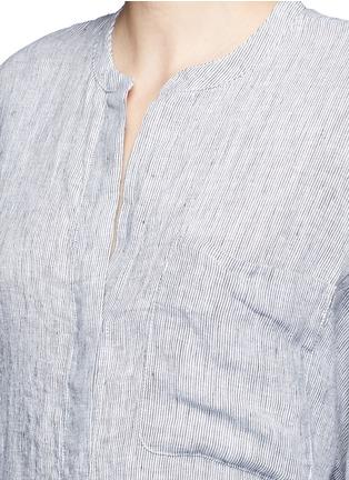 Detail View - Click To Enlarge - James Perse - Stripe dolman linen shirt dress