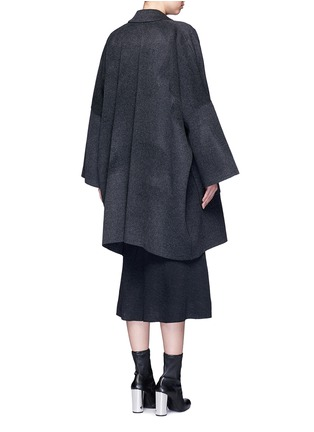 Back View - Click To Enlarge - Helmut Lang - Oversized double faced wool-cashmere cape coat