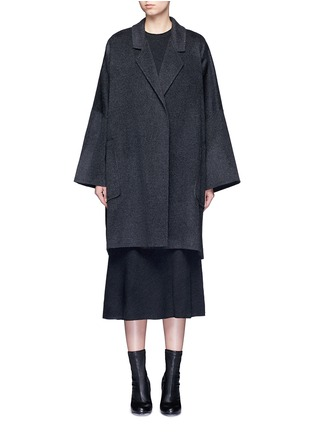 Main View - Click To Enlarge - Helmut Lang - Oversized double faced wool-cashmere cape coat