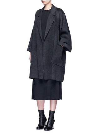 Figure View - Click To Enlarge - Helmut Lang - Oversized double faced wool-cashmere cape coat