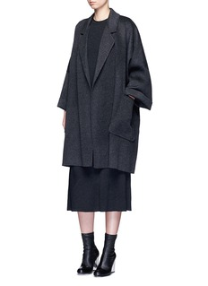 Helmut Lang Oversized double faced wool-cashmere cape coat