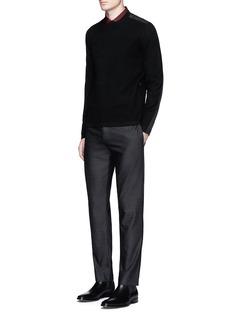 Theory'Nordan' nylon patch sweater