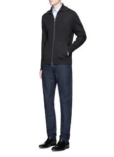 Theory'Ronzons FZ' Merino wool zip cardigan
