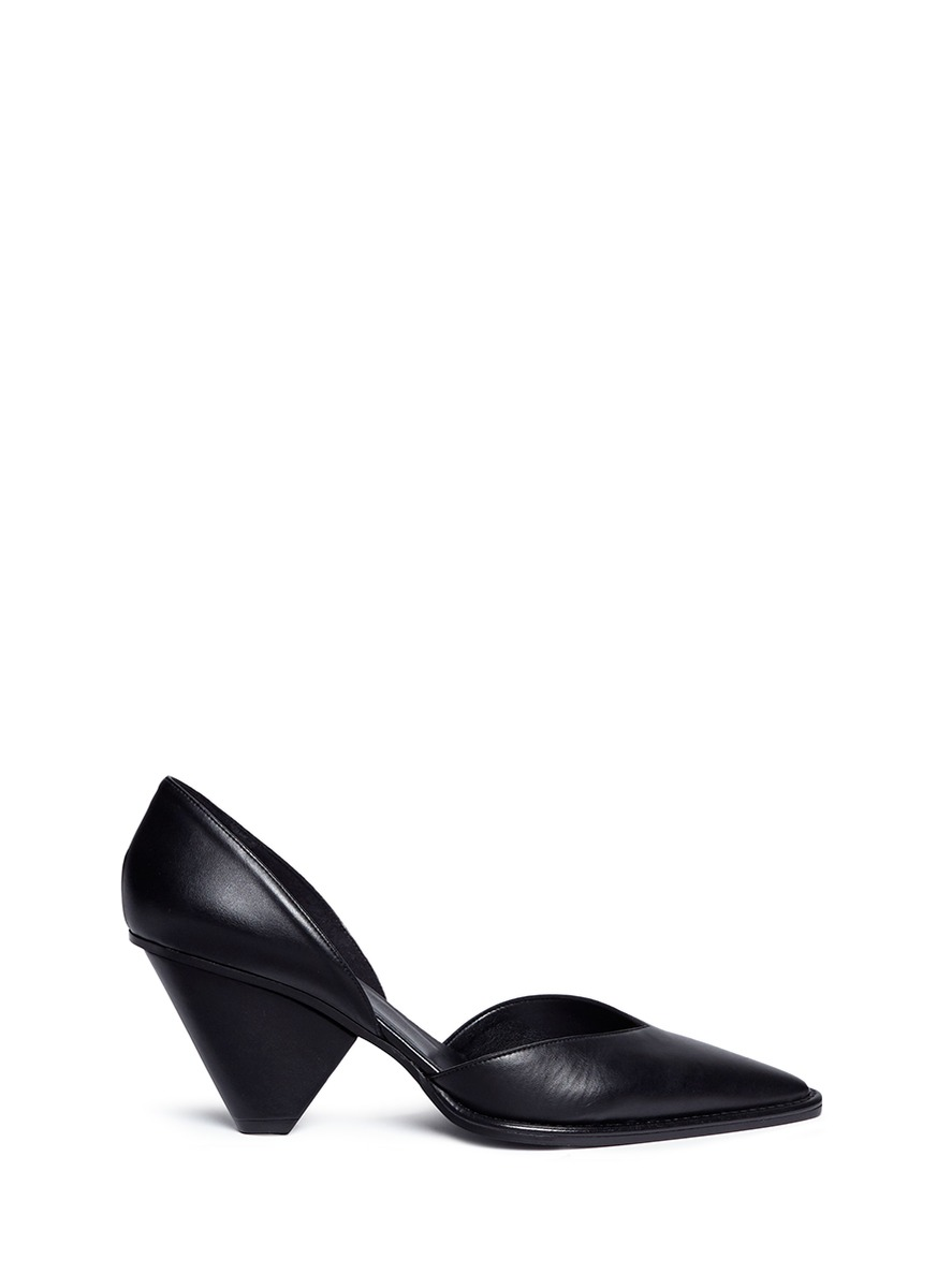 Faux leather dOrsay pumps by Stella McCartney